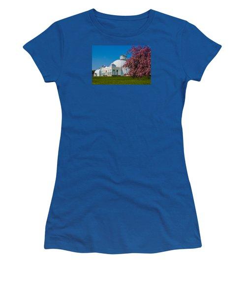 Buffalo Botanical Gardens North Lawns Women's T-Shirt (Junior Cut) by Don Nieman