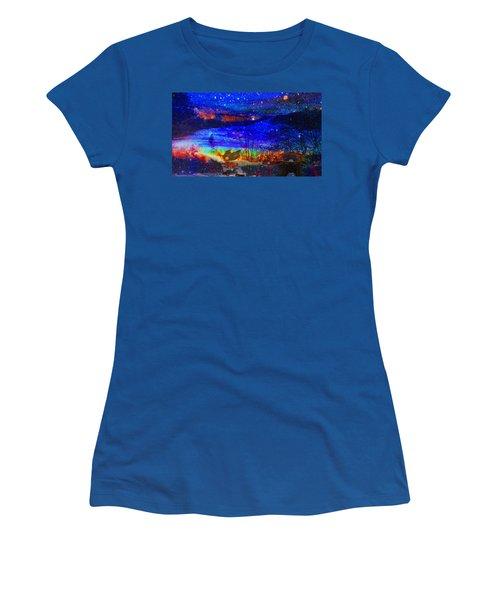 Bunnies At The Slopes Women's T-Shirt (Junior Cut)