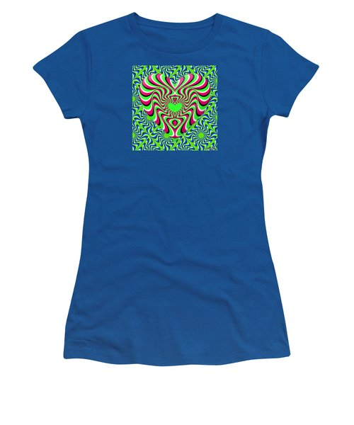 Burning Heart Women's T-Shirt (Athletic Fit)