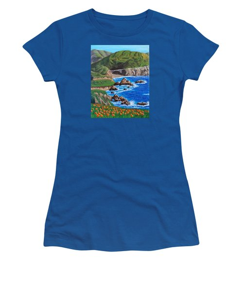 California Coastline Women's T-Shirt (Athletic Fit)
