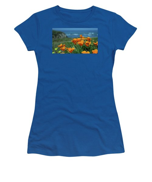 California State Flower - The Poppy Women's T-Shirt (Athletic Fit)