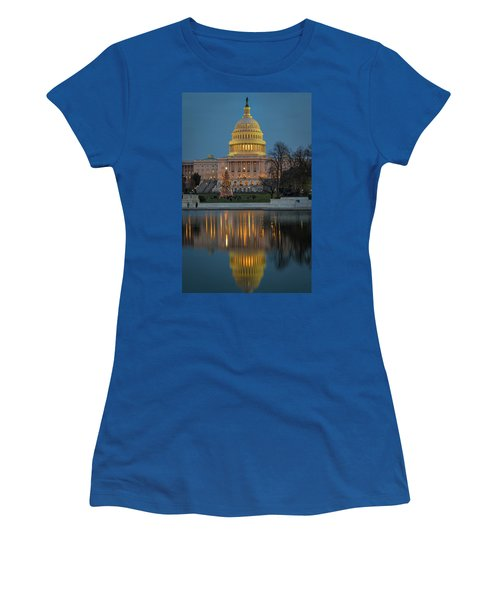 Capitol Reflection At Christmas Women's T-Shirt (Athletic Fit)