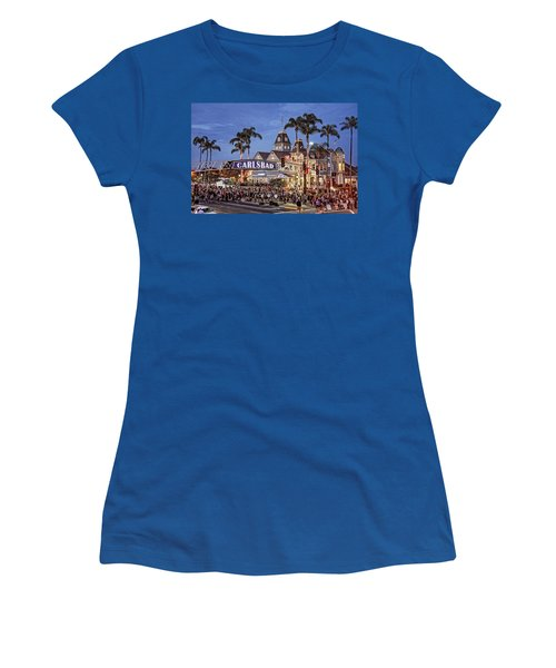 Carlsbad Village Sign Lighting Women's T-Shirt
