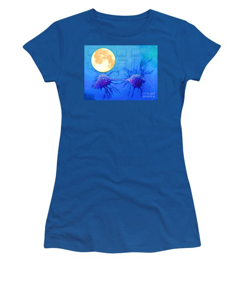 Cell Division Under Full Moon Women's T-Shirt (Athletic Fit)
