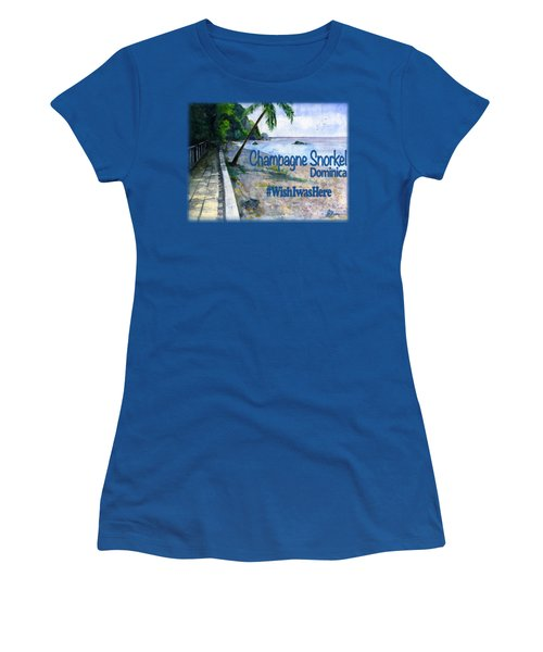 Champagne Snorkel Dominica Shirt Women's T-Shirt (Athletic Fit)