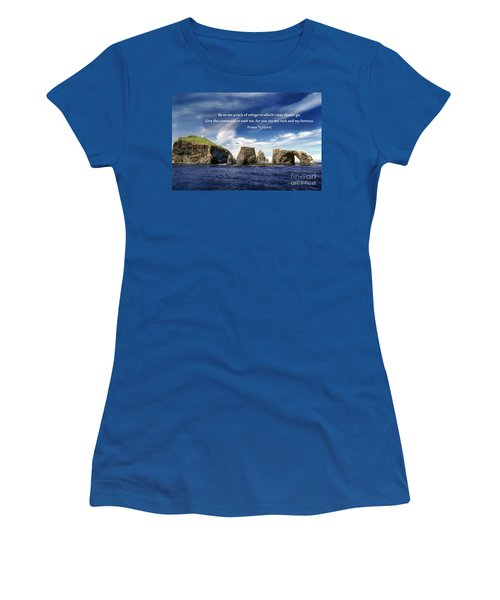 Channel Island National Park - Anacapa Island Arch With Bible Verse Women's T-Shirt