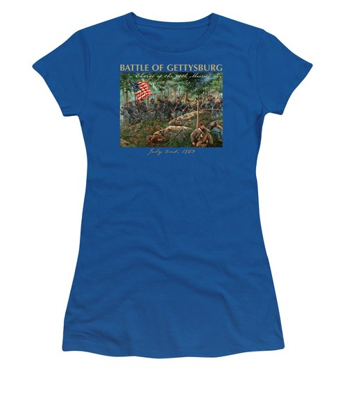 Charge Of The 20th Maine - Joshua L. Chamberlain Leading The 20th Maine Regiment On Little Round Top Women's T-Shirt