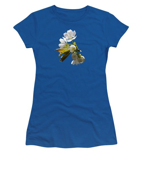 Cherry Blossoms Women's T-Shirt (Junior Cut) by Christina Rollo