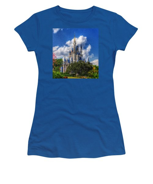 Cinderella Castle Summer Day Women's T-Shirt (Junior Cut)