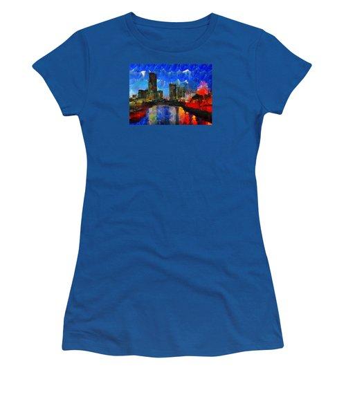 City Living - Tokyo - Skyline Women's T-Shirt (Junior Cut) by Sir Josef - Social Critic - ART