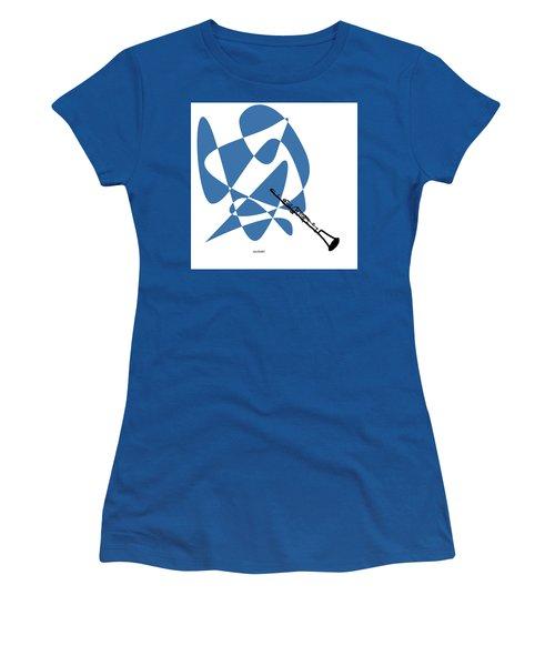 Clarinet In Blue Women's T-Shirt (Junior Cut) by David Bridburg