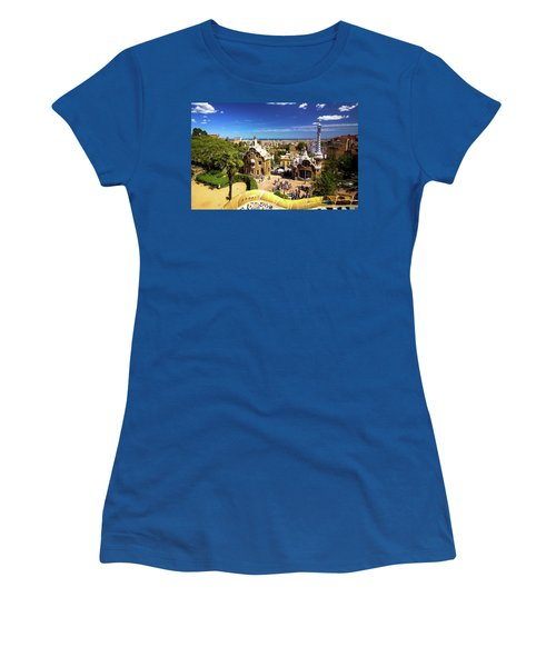 Classic View Of Park Guell In Barcelona Women's T-Shirt