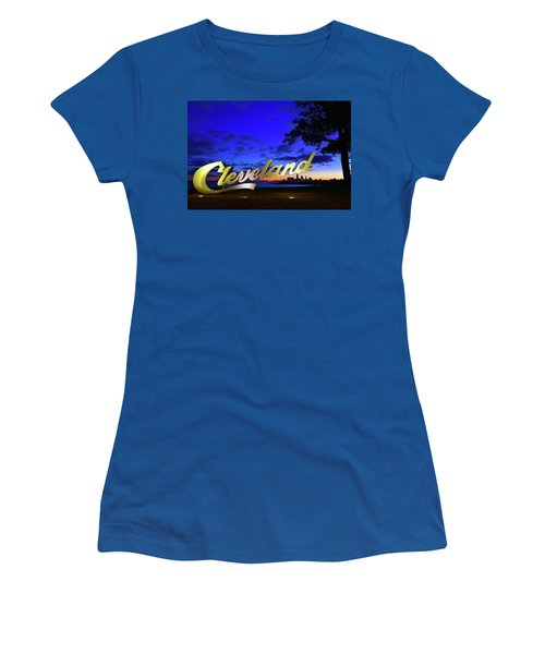 Cleveland Sign Sunrise Women's T-Shirt