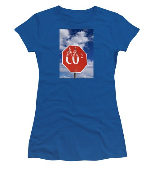 Climate Change Women's T-Shirt (Junior Cut) by George Robinson