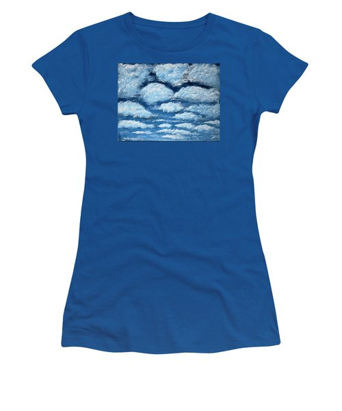 Women's T-Shirt (Junior Cut) featuring the painting Clouds by Antonio Romero