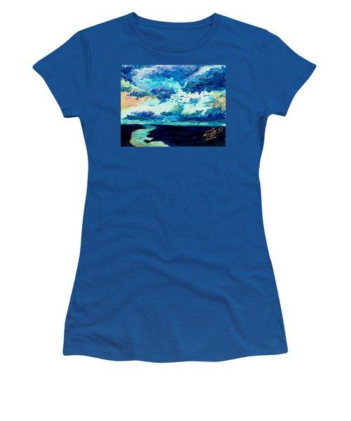Clouds Women's T-Shirt (Junior Cut) by Melinda Dare Benfield