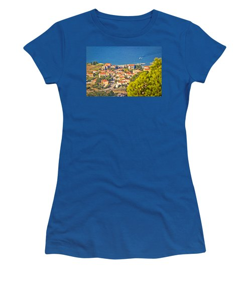 Coastal Village On Island Of Pasman Women's T-Shirt (Athletic Fit)