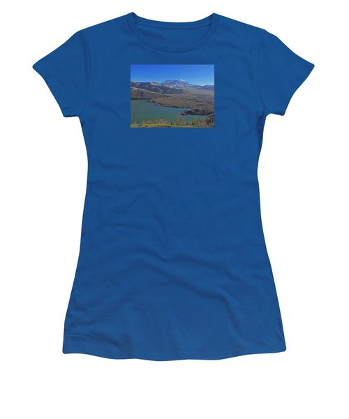 Women's T-Shirt (Junior Cut) featuring the photograph Coldwater Lake by Jack Moskovita