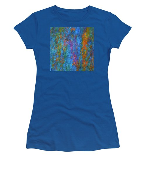 Women's T-Shirt featuring the digital art Color Abstraction Xiv by David Gordon
