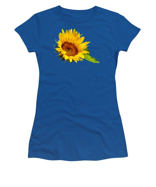 Color Me Happy Sunflower Women's T-Shirt (Junior Cut) by Christina Rollo