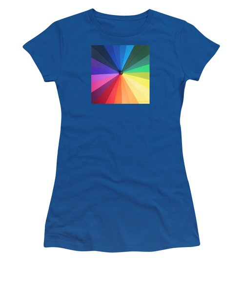 Color Wheel Women's T-Shirt (Junior Cut) by Denise Fulmer