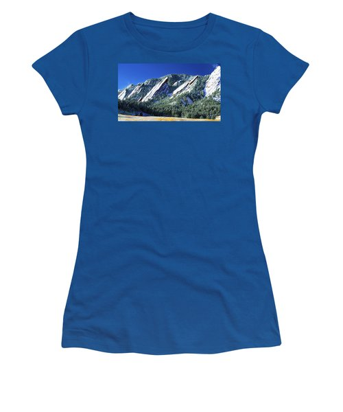 All Fivecolorado Flatirons Women's T-Shirt (Junior Cut) by Marilyn Hunt