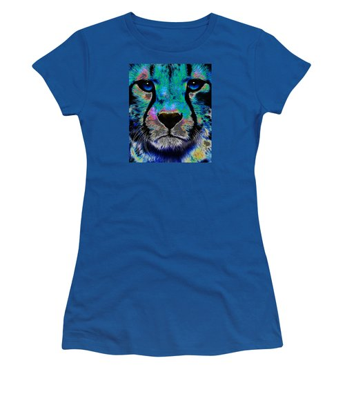 Colorful Cheetah Women's T-Shirt (Athletic Fit)
