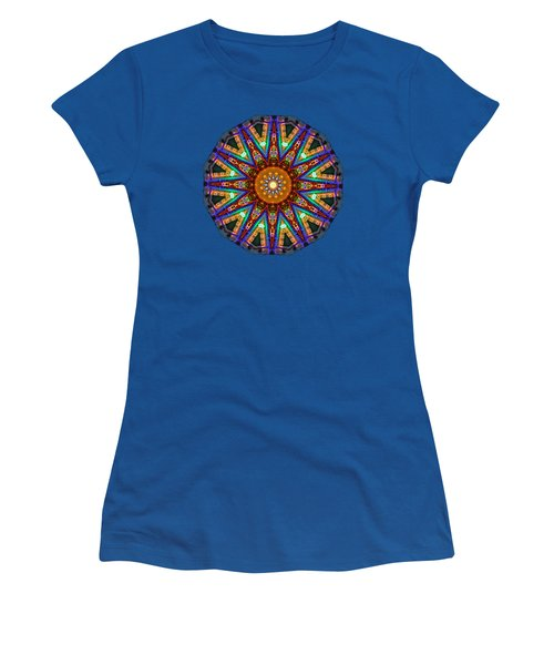 Colorful Christmas Kaleidoscope By Kaye Menner Women's T-Shirt (Junior Cut) by Kaye Menner