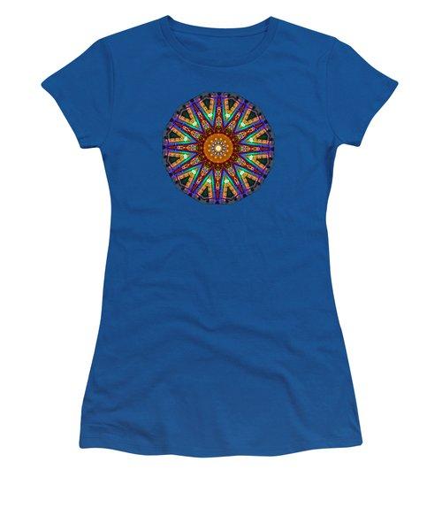 Colorful Christmas Kaleidoscope By Kaye Menner Women's T-Shirt