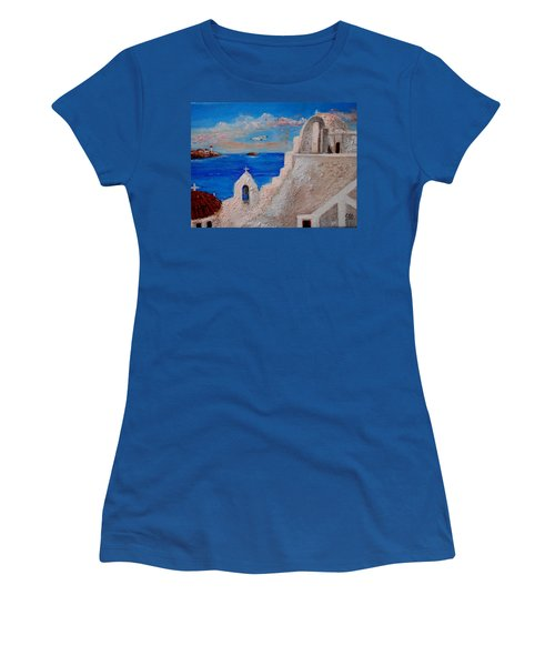 Colors Of Greece Women's T-Shirt (Athletic Fit)