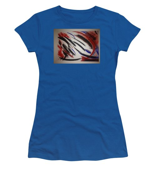 Women's T-Shirt (Junior Cut) featuring the painting Abstract Colors by Sheila Mcdonald
