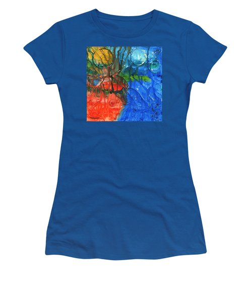 Continental Divide Women's T-Shirt (Junior Cut) by Phil Strang