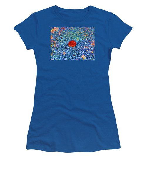 Women's T-Shirt (Junior Cut) featuring the digital art Contractions by Joseph Keane