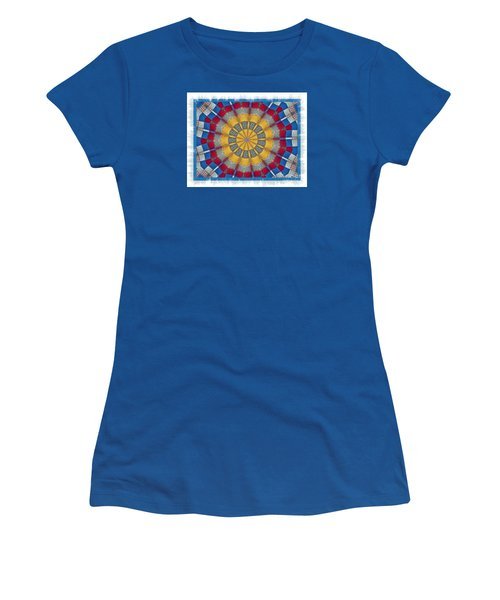 Women's T-Shirt (Junior Cut) featuring the photograph Country Quilt Wheel by Shirley Moravec
