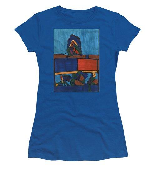 Courtroom  Women's T-Shirt (Junior Cut) by Darrell Black