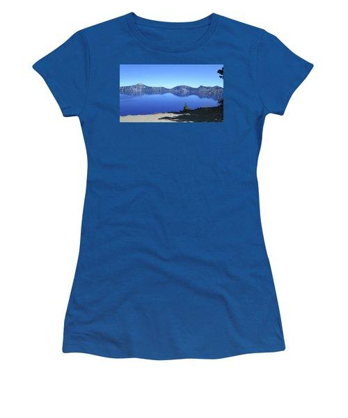 Women's T-Shirt (Junior Cut) featuring the photograph Crater Lake by Tony Mathews