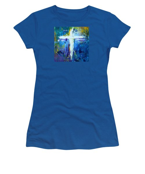 Cross - Painting #4 Women's T-Shirt (Junior Cut) by Kume Bryant