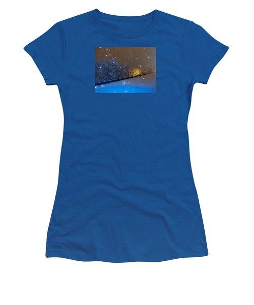 Crystal Falls Women's T-Shirt (Junior Cut) by Glenn Feron