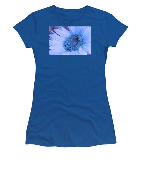 Women's T-Shirt (Junior Cut) featuring the photograph Daisy Blue by Marie Leslie