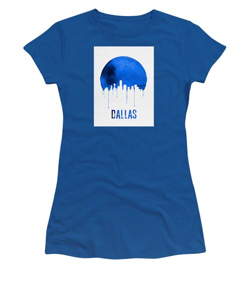 Dallas Skyline Blue Women's T-Shirt (Junior Cut) by Naxart Studio