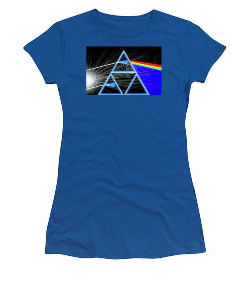 Women's T-Shirt (Junior Cut) featuring the digital art Dark Side Of The Moon by Dan Sproul