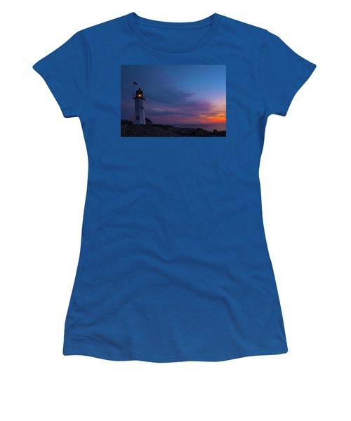 Dawn At Scituate Light Women's T-Shirt