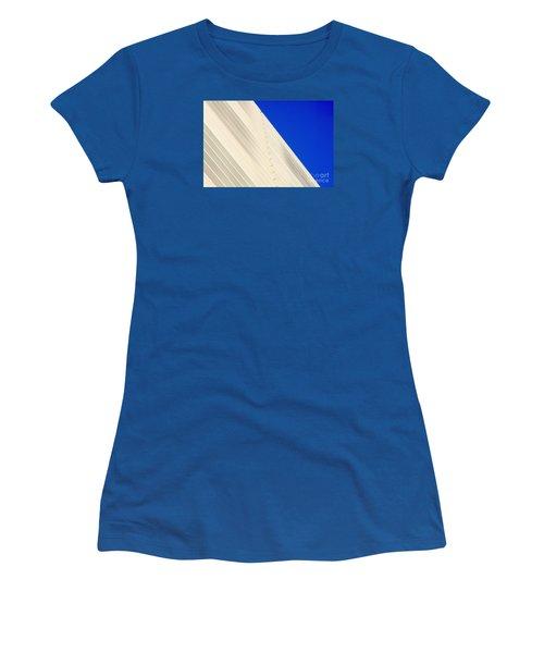 Deep Blue Sky And Office Building Wall Women's T-Shirt
