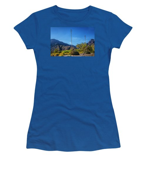 Women's T-Shirt (Junior Cut) featuring the photograph Desert Flowers In The Anza-borrego Desert State Park by Randall Nyhof