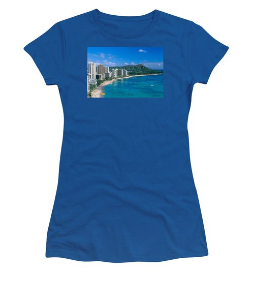 Diamond Head And Waikiki Women's T-Shirt (Athletic Fit)