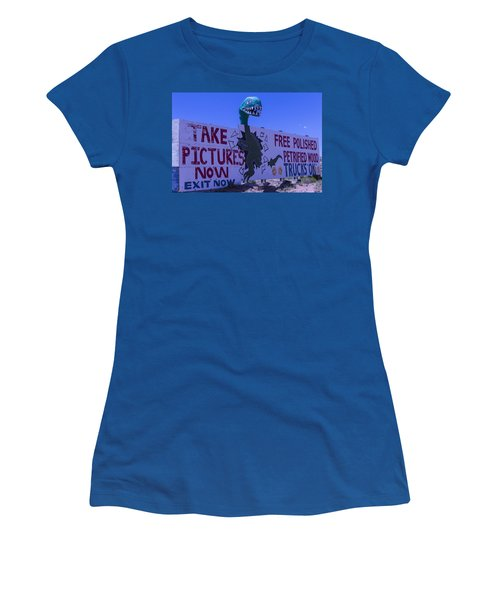 Dinosaur Sign Take Pictures Now Women's T-Shirt