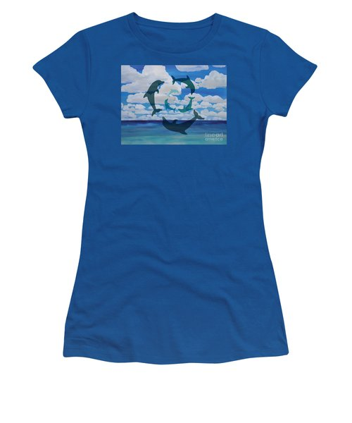 Dolphin Cloud Dance Women's T-Shirt