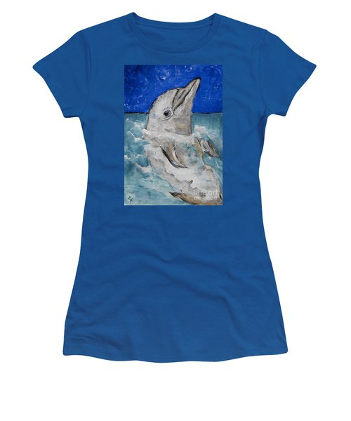 Dolphin Women's T-Shirt (Athletic Fit)