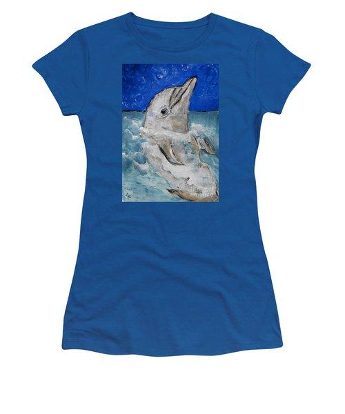Dolphin Women's T-Shirt (Junior Cut)