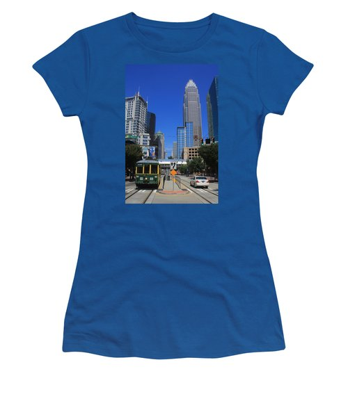 Downtown Charlotte Trolley 1  Women's T-Shirt (Athletic Fit)